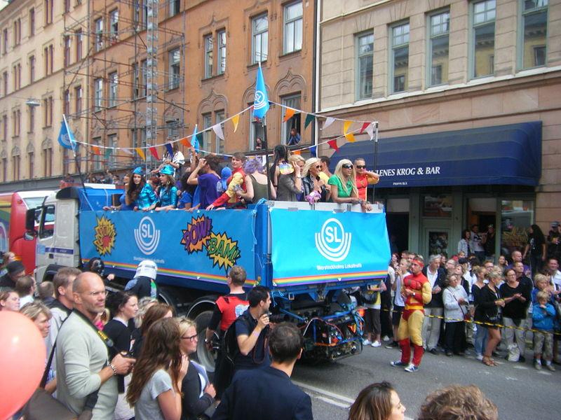 SL på Stockholm Pride